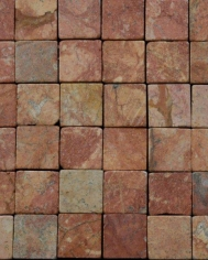 Red Brown Marble 5x5cm Mosaic