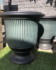 Striated French Style Urn