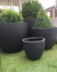 Anthracite Egg Pots