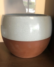 Terracotta/White Ball Pot