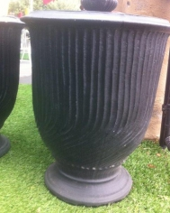 Black French Style Urn