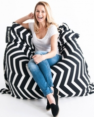 Black and White Bean Bag
