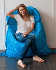 Blue Circles Bean Bag