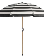 Chaplin-Stripe Beach Umbrella