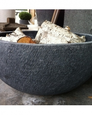 Dark Grey Etched Bowl