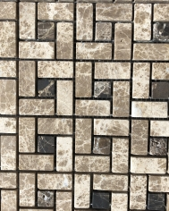 Dark/ Light Emperador Mosaic