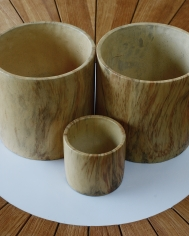 French Wood Look Pot