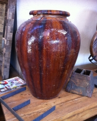 Brown Glazed Urn