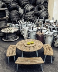Industrial Dining Table Round D135
