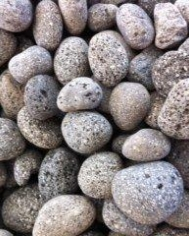 Ivory black and grey decorative garden pebbles lava black pebble workwithnaturefo