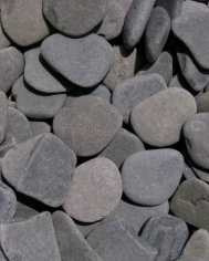 Ivory black and grey decorative garden pebbles pebble river grey workwithnaturefo