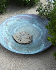 Copper Contempoary Bird Bath