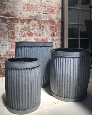 Round Ribbed Planter