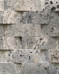 Silver Travertine Basket Weave