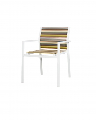 Stripe Stackable Arm Chair