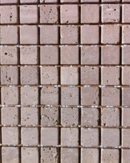 Travertine Square 25x25mm Mesh