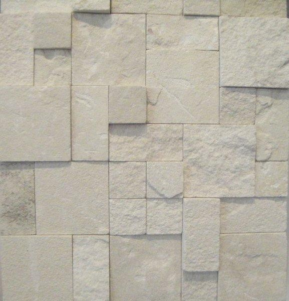 3d White Limestone Roughcut Wall Cladding All