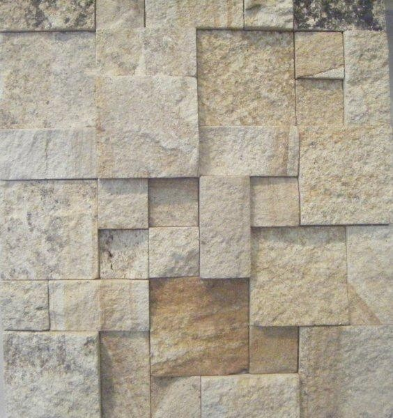 3d Yellow Sandstone Roughcut Wall Cladding All