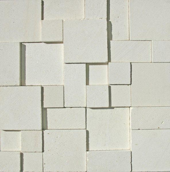 3D White Limestone Smooth