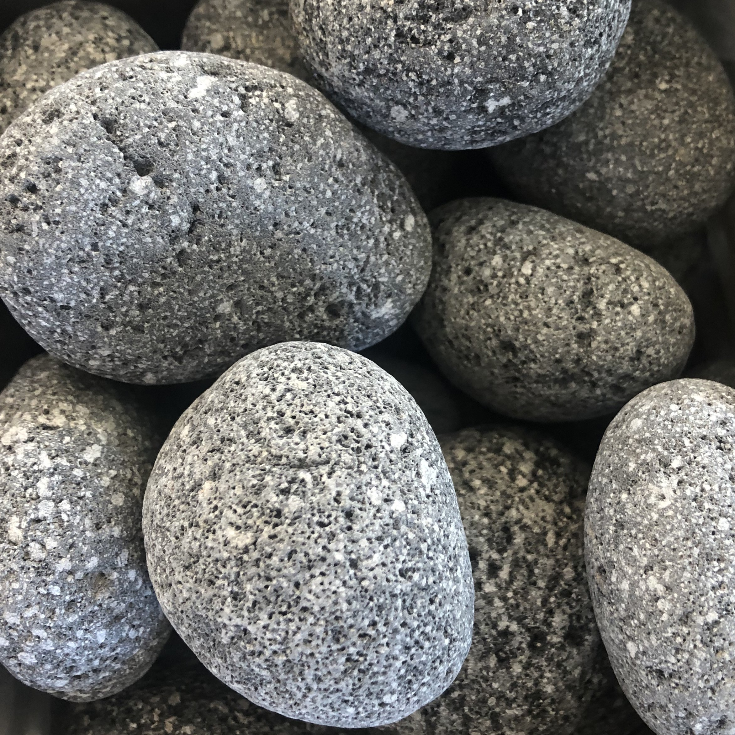 Black Lava Pebble