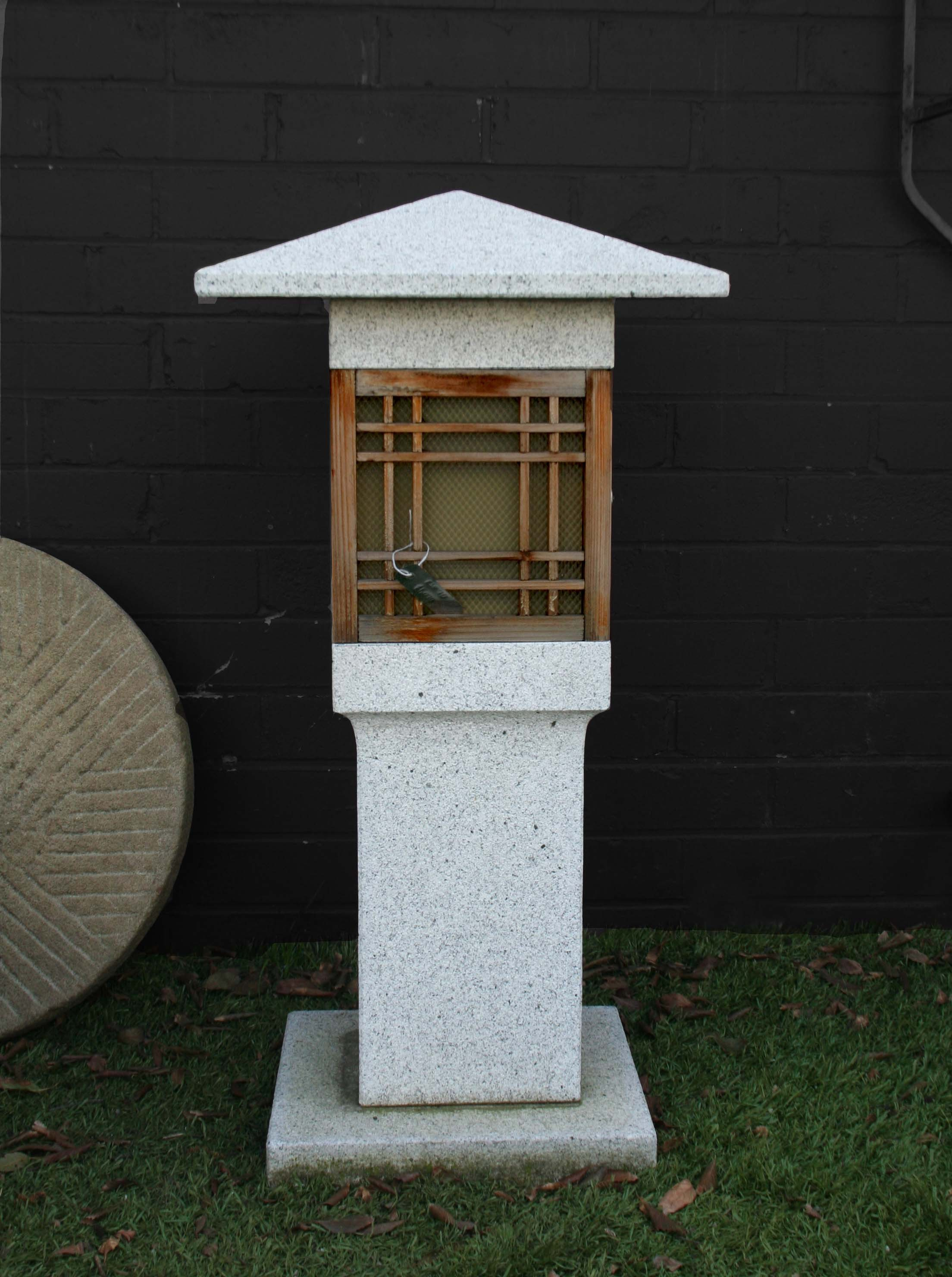 Granite Lantern Contemporary Traditional Japanese