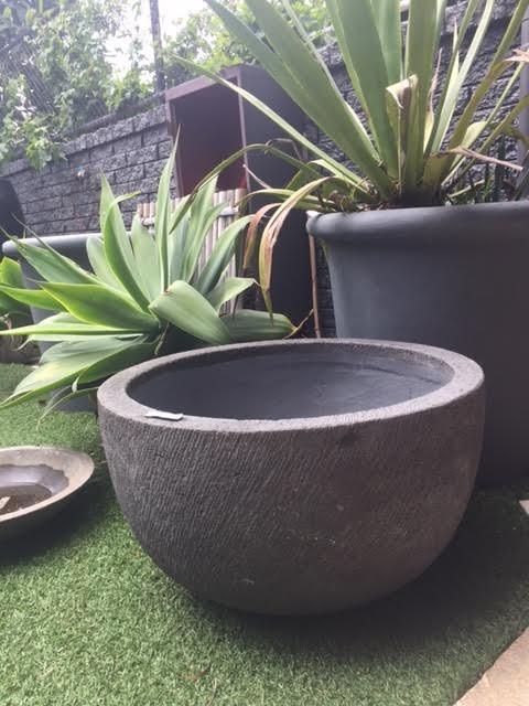 Dark Grey Etched Bowl
