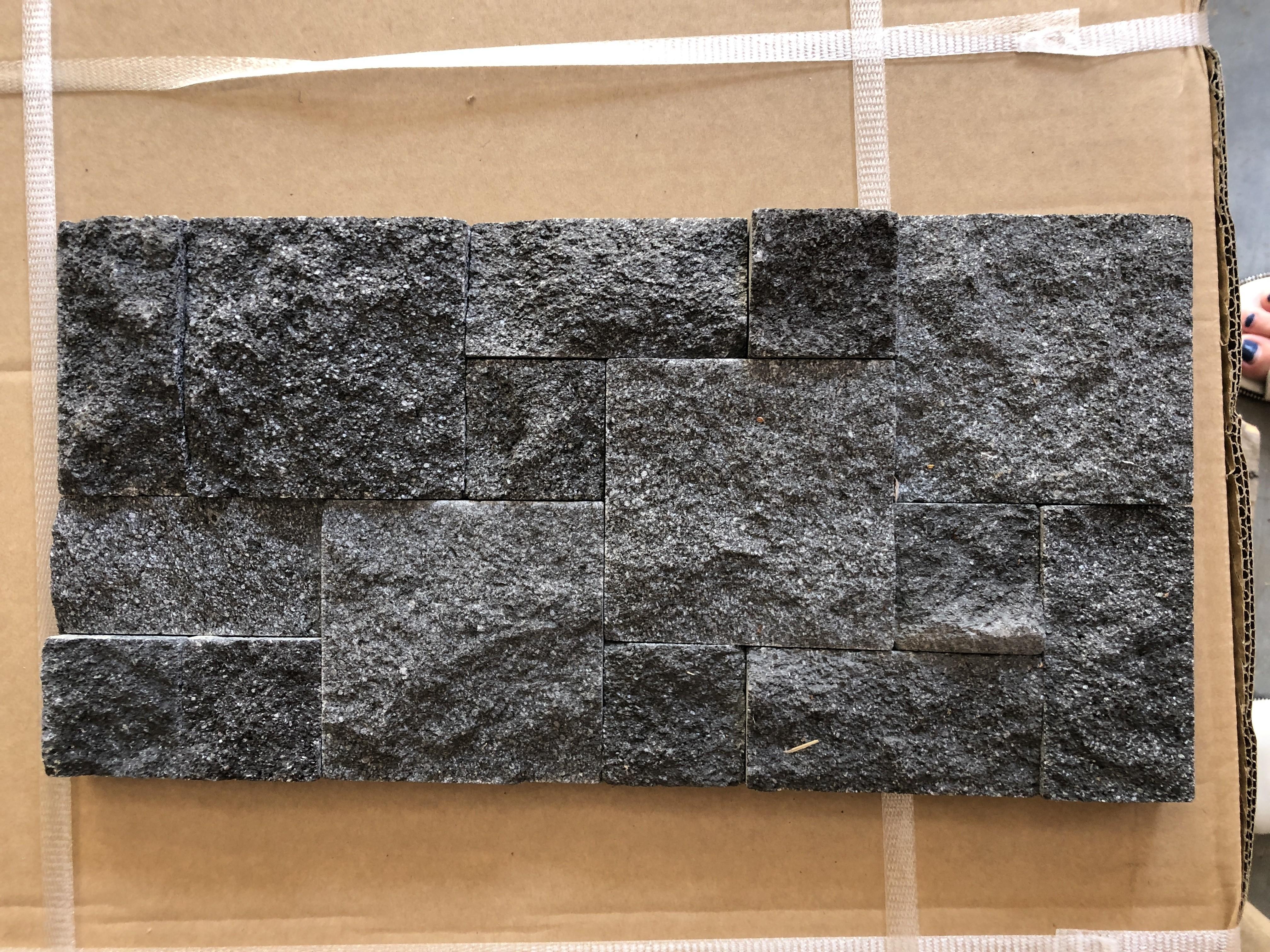 3D Black Lava Roughcut