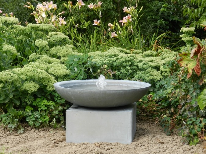 Aged Zinc Napoli Fountain Outdoor Water Features Rock