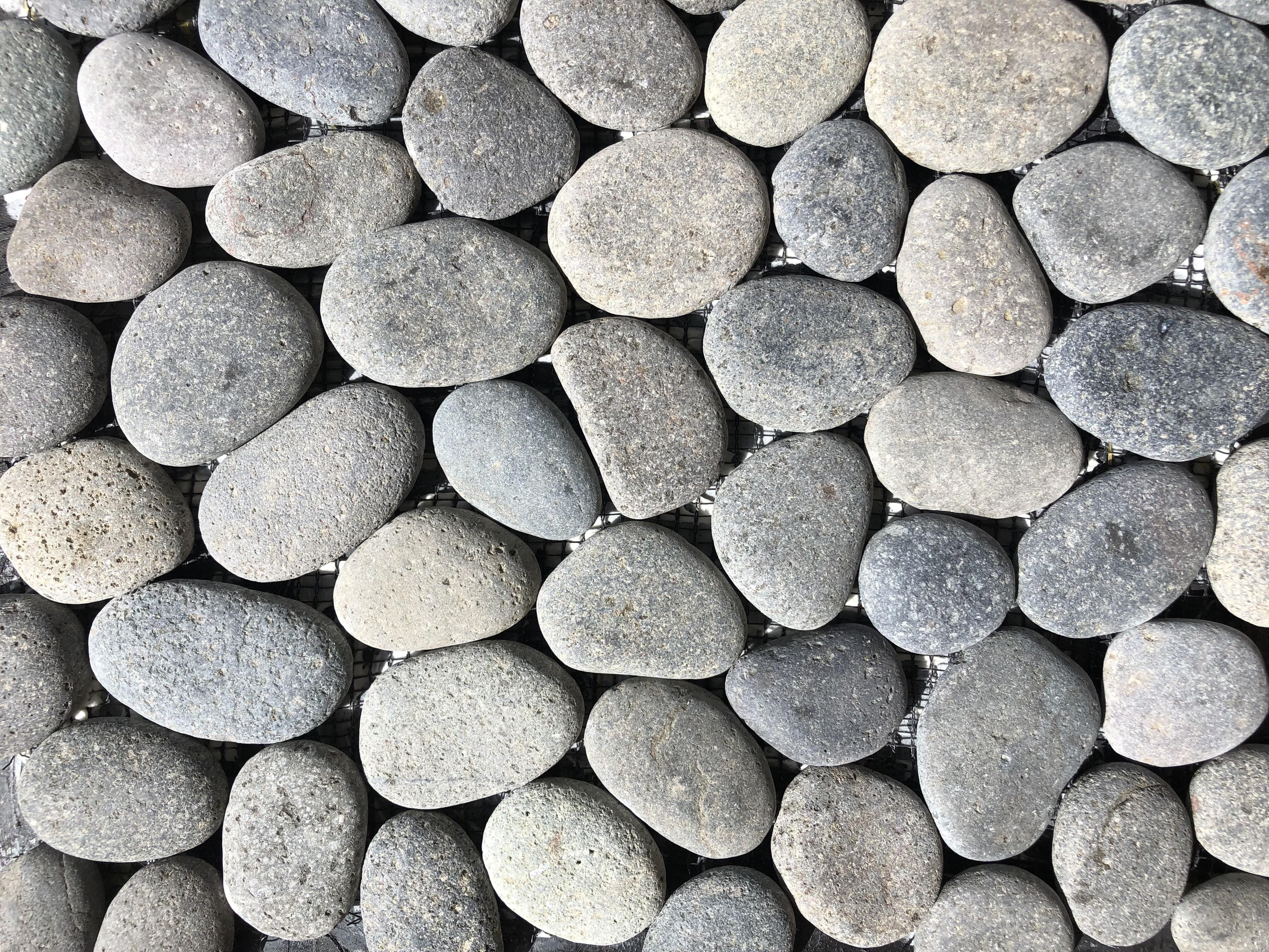River Grey Pebble Mesh
