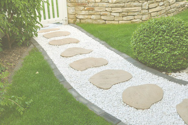 Sandstone Yellow Round Steppers