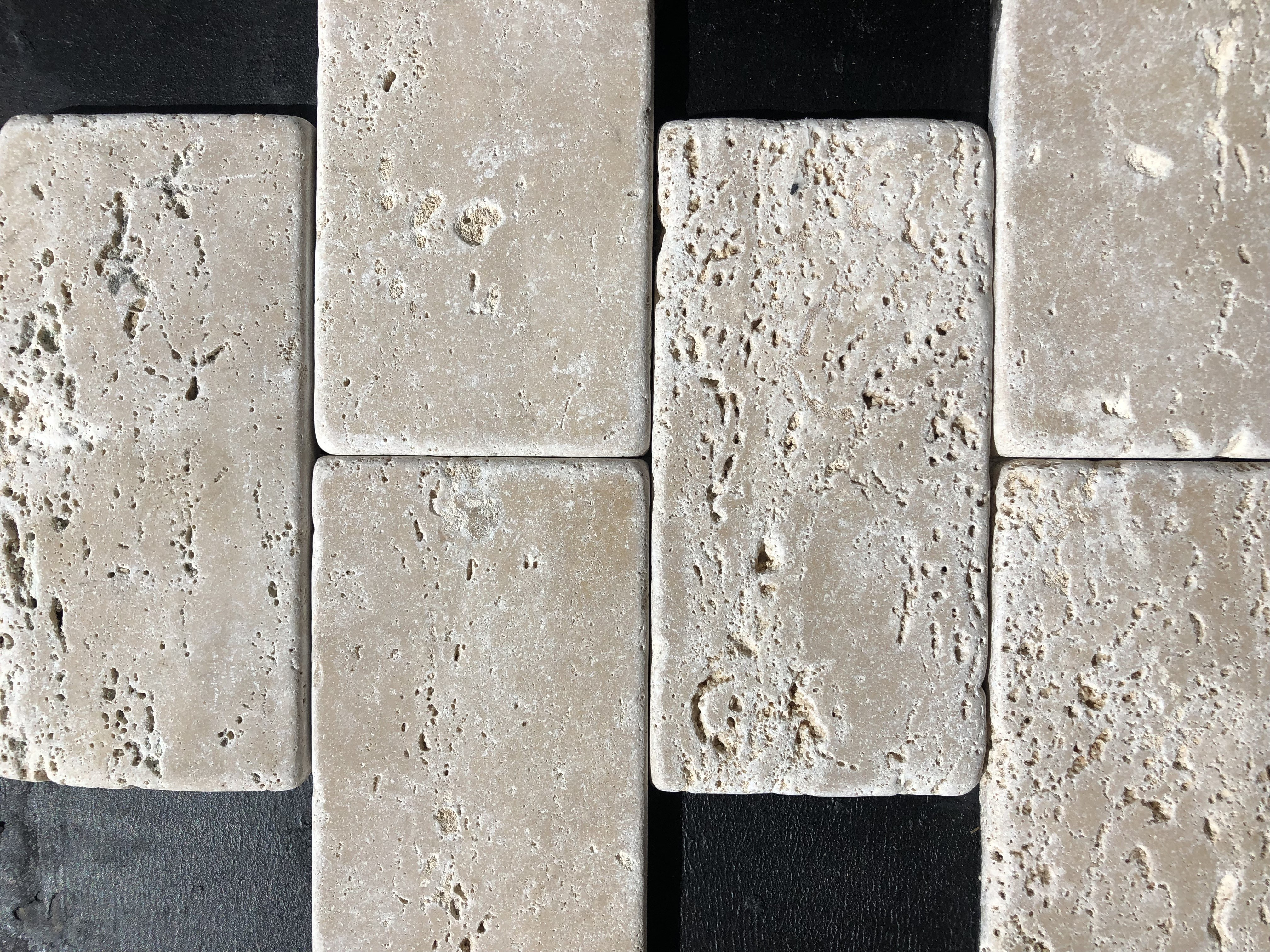 Travertine Tumbled Brick 75x150