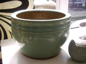 Glazed Green Pot