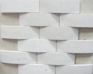 White Limestone Basket Weave