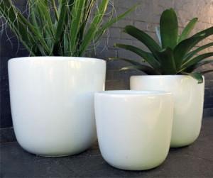 White Modern pot