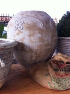 White Wash Urn